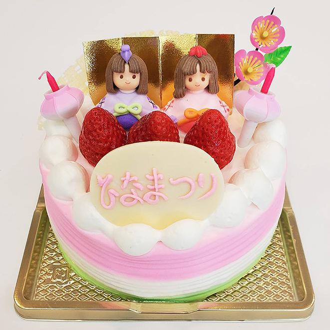 明月堂,和菓子,ひなまつり,デコレーション,ケーキ,